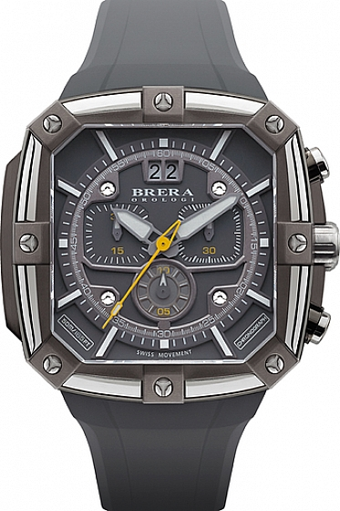 Supersportivo, Gray Case, Steel Bezel, Gray Dial, Gray Strap