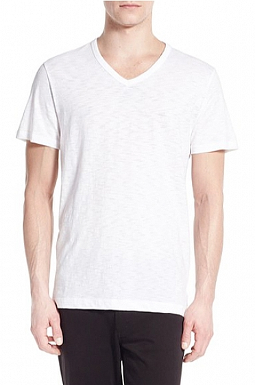 Vince 100% Slub Cotton V Neck